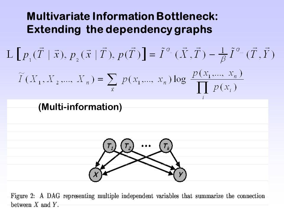 Multivariate Information Bottleneck: Extending the dependency graphs (Multi-information)