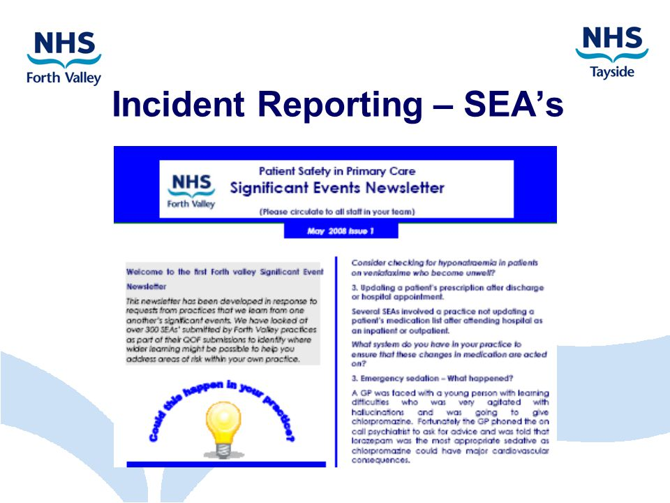 Incident Reporting – SEA's