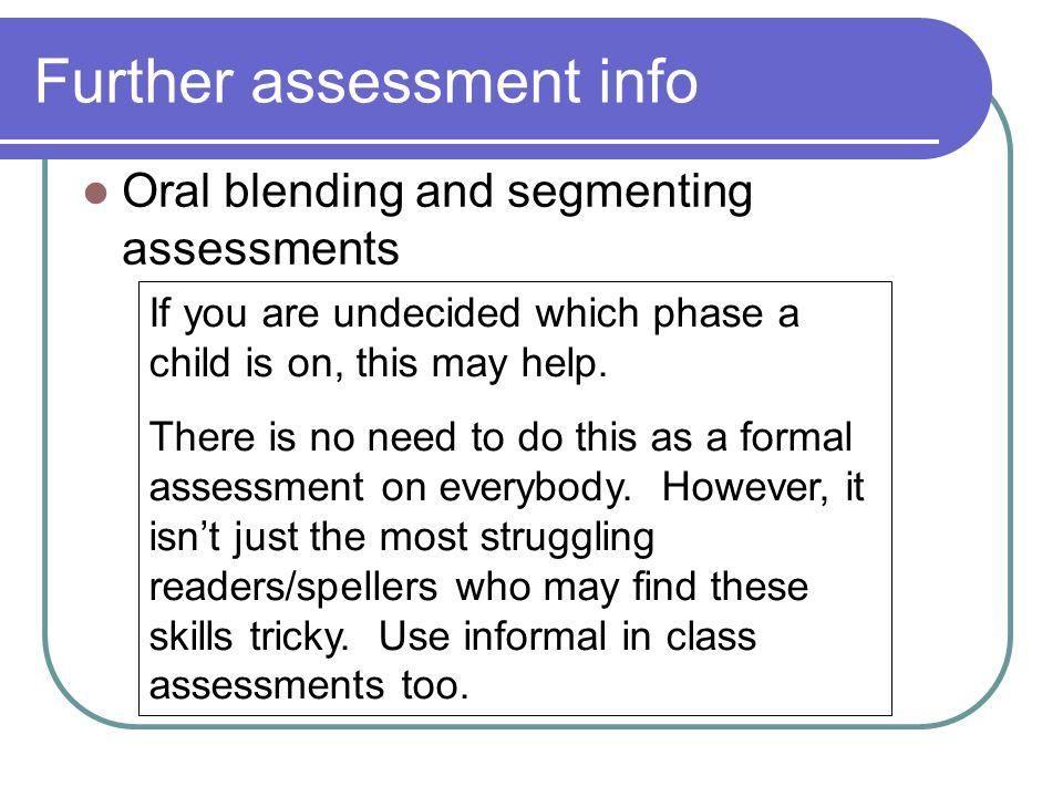 Oral blending assessment