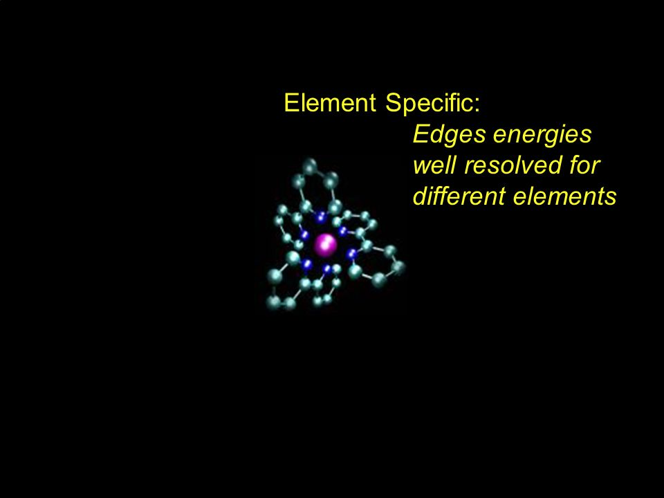 Element Specific: Edges energies well resolved for different elements