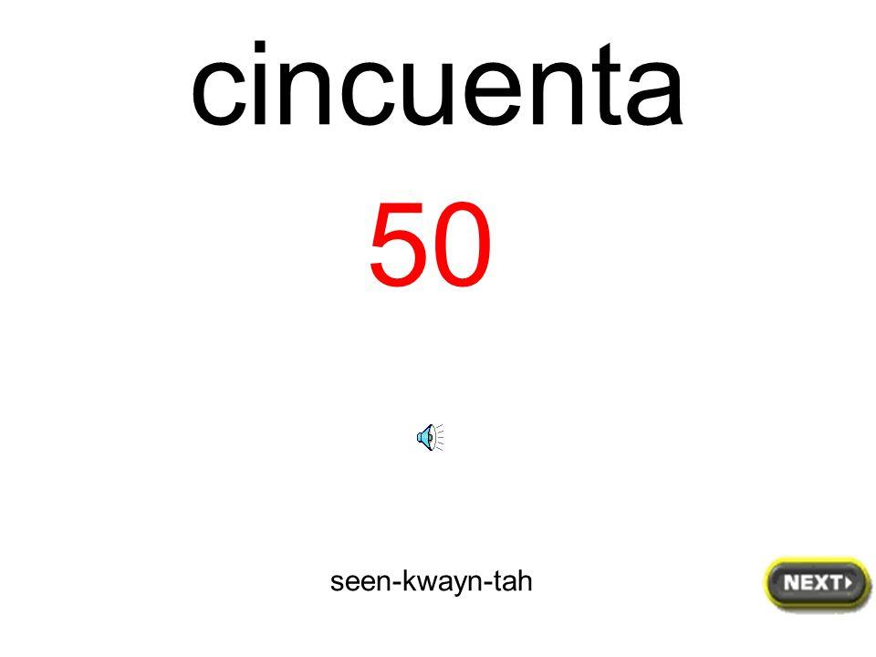 cuarenta y uno 41 kwah-rayn-tah ee oo-noh