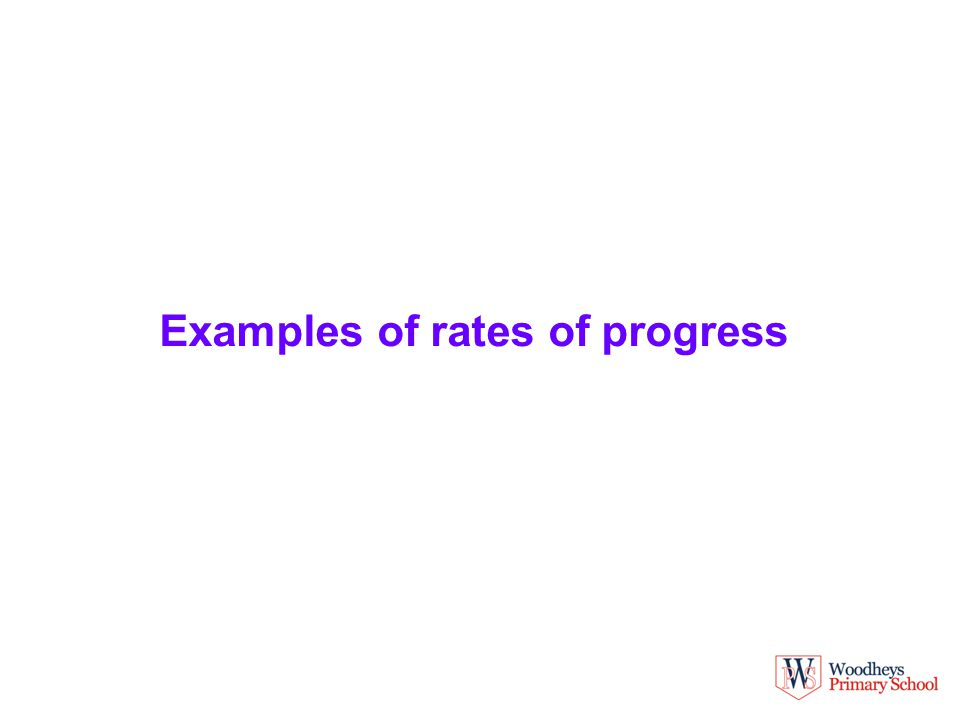 Examples of rates of progress