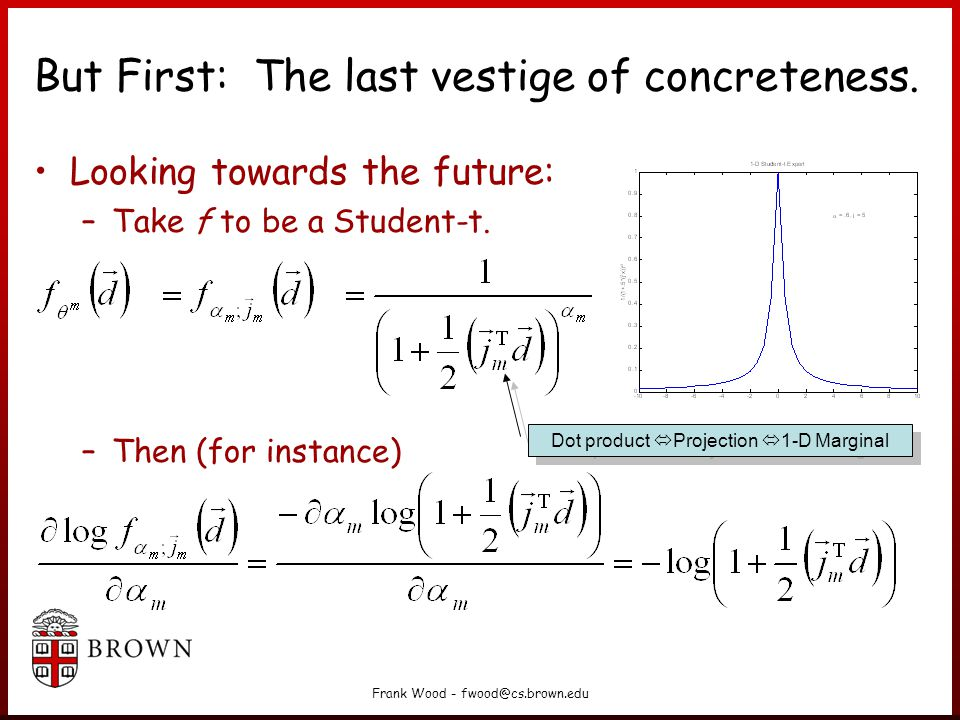 Frank Wood - fwood@cs.brown.edu Contrastive Divergence We want to update the parameters to reduce the tendency of the chain to wander away from the initial distribution on the first step .