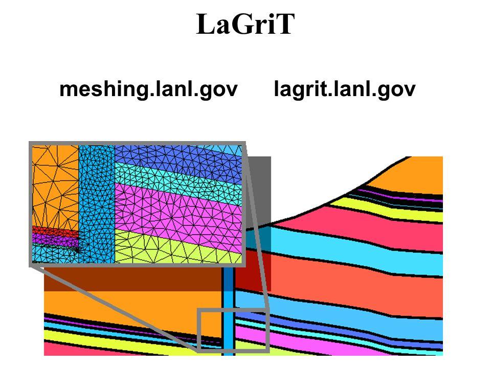 LaGriT meshing.lanl.gov lagrit.lanl.gov