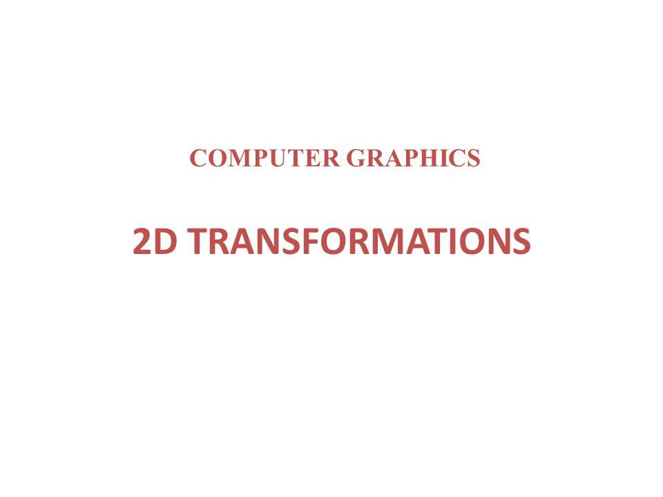 2D TRANSFORMATIONS COMPUTER GRAPHICS
