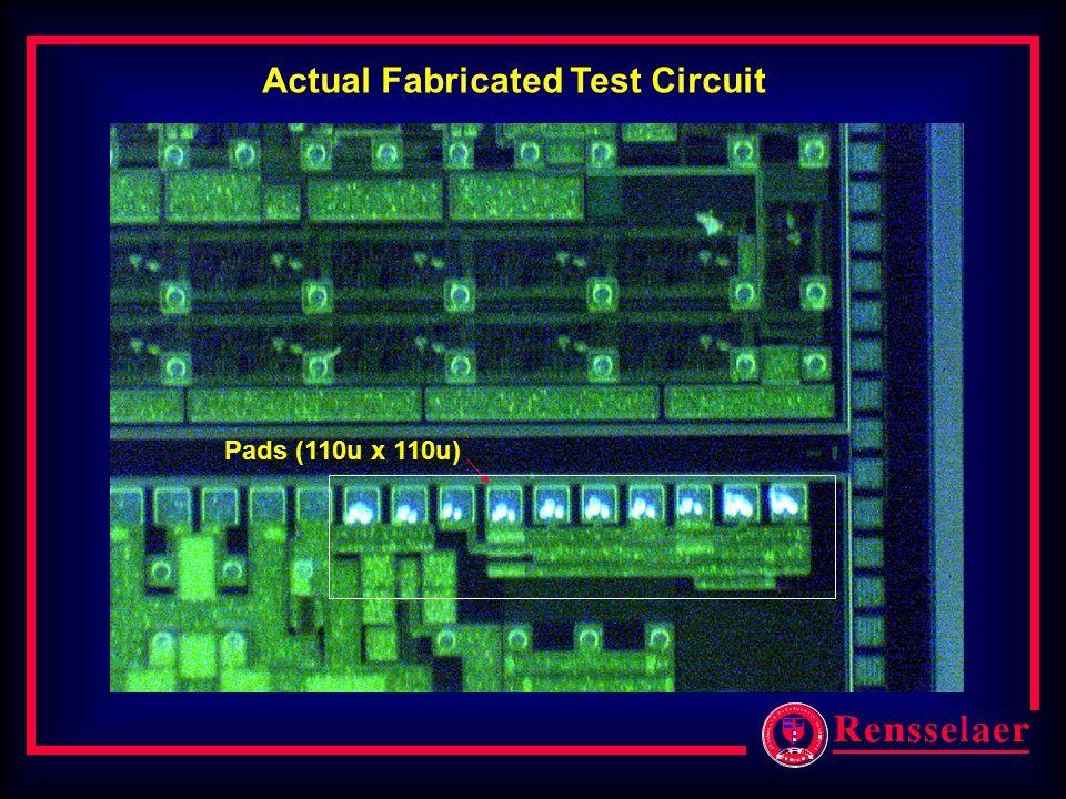 Actual Fabricated Test Circuit Pads (110u x 110u)