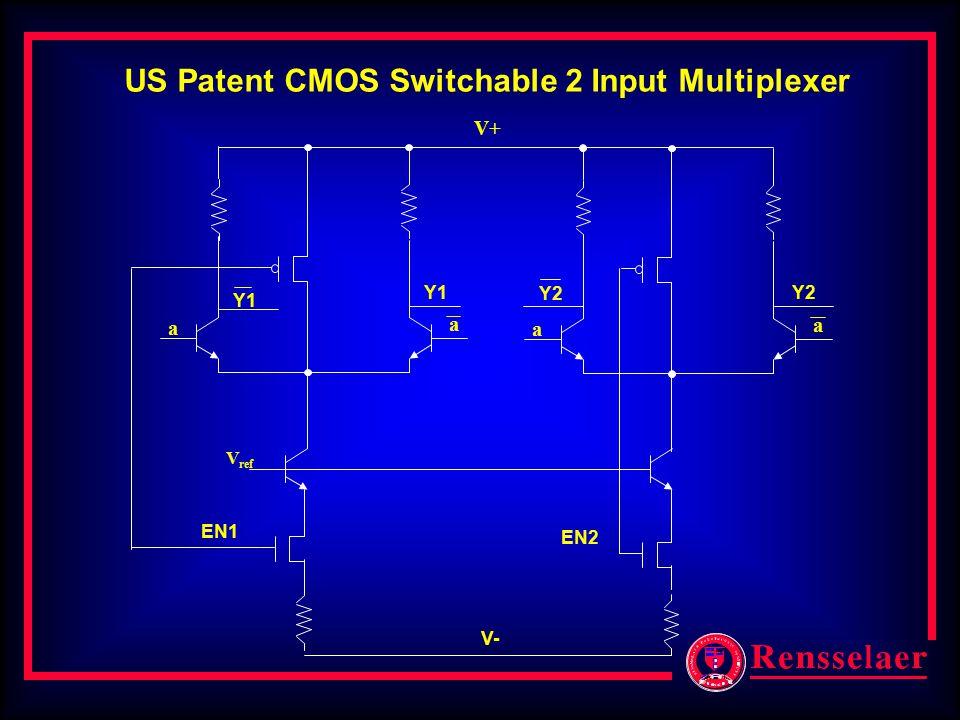 V+ a a V ref a a EN1 EN2 V- Y1 Y2 US Patent CMOS Switchable 2 Input Multiplexer