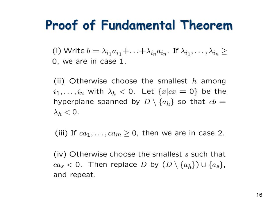 16 Proof of Fundamental Theorem