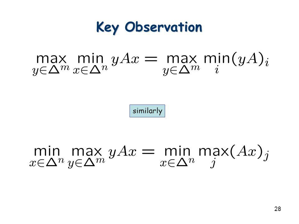 28 Key Observation similarly