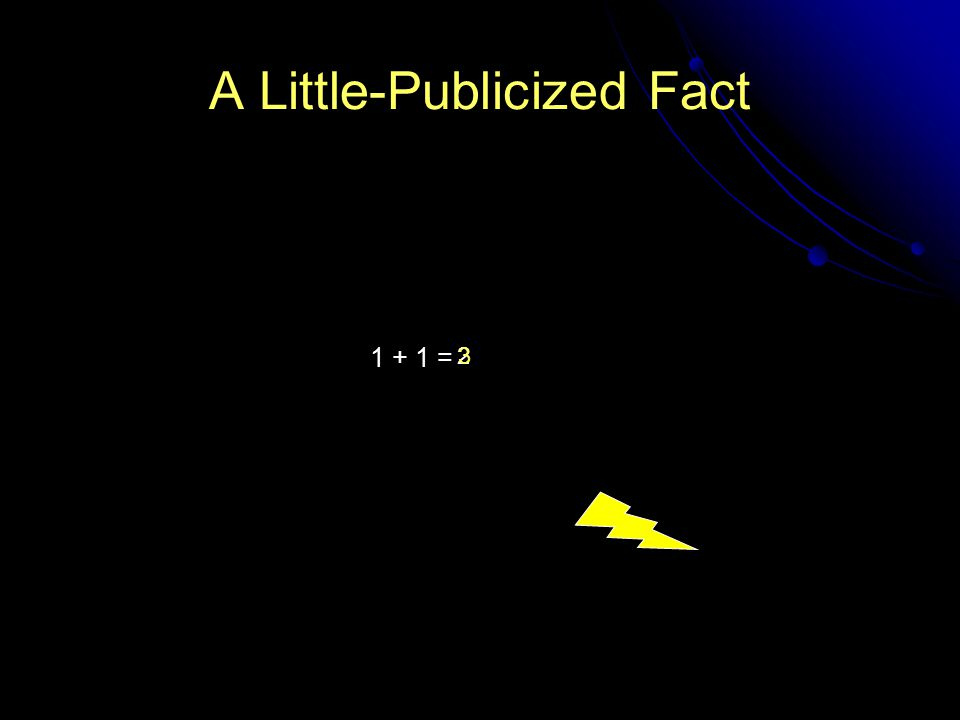 A Little-Publicized Fact 1 + 1 = 23