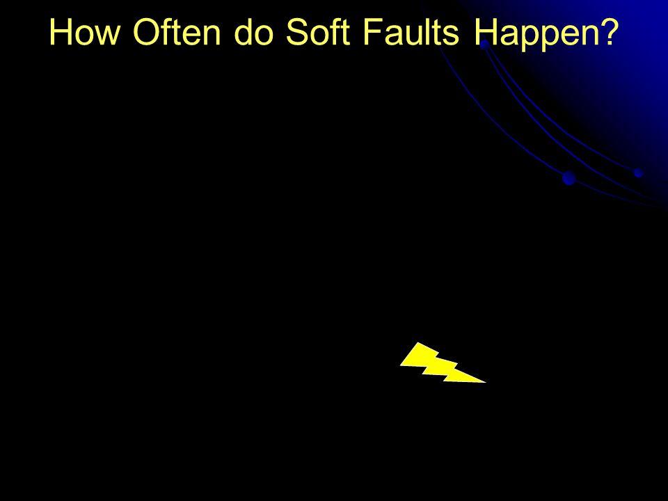 How Often do Soft Faults Happen?