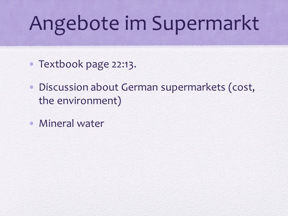 Angebote im Supermarkt Textbook page 22:13.