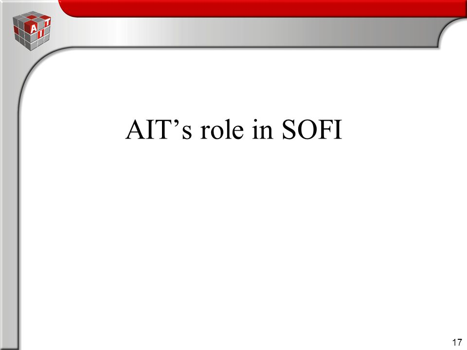 17 AIT's role in SOFI