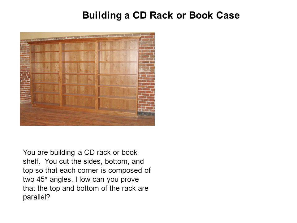 Building a CD Rack or Book Case