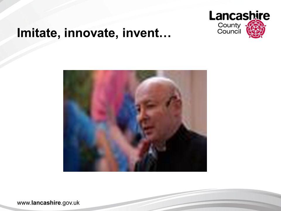 Imitate, innovate, invent…