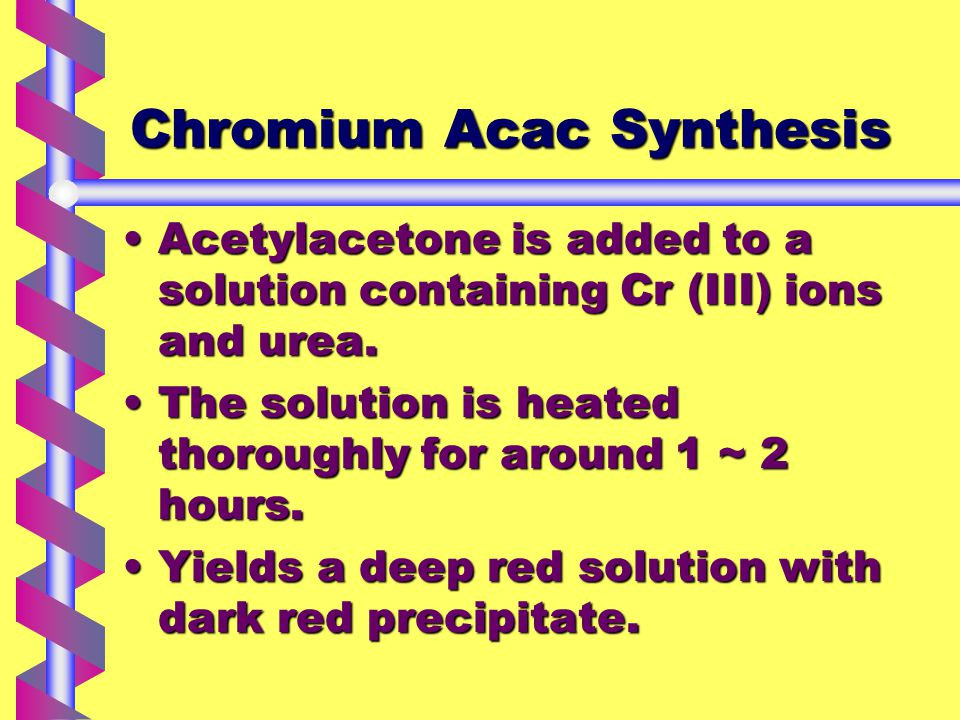 The Ultra Violet Spectrum of Cr(Acac) 3
