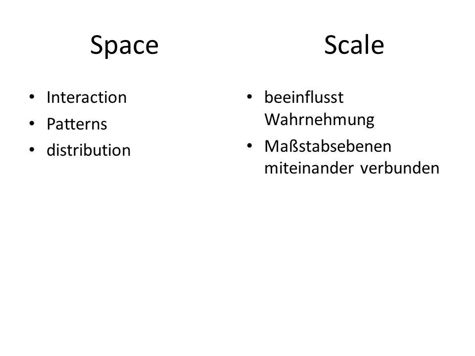 Space Scale Interaction Patterns distribution beeinflusst Wahrnehmung Maßstabsebenen miteinander verbunden