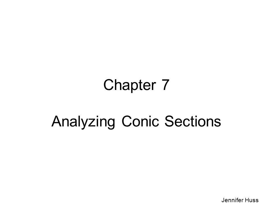 Chapter 7 Analyzing Conic Sections Jennifer Huss