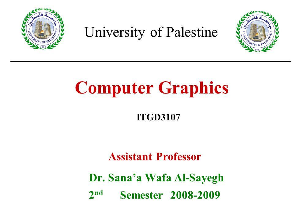 30/9/2008Lecture 212 Vector Generation There are two vector generation algorithm: DDA = Digital Differential Analyser –finite differences Bresenham's Algorithm