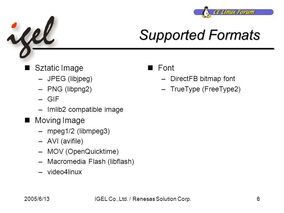 2005/6/1327IGEL Co.,Ltd./ Renesas Solution Corp.