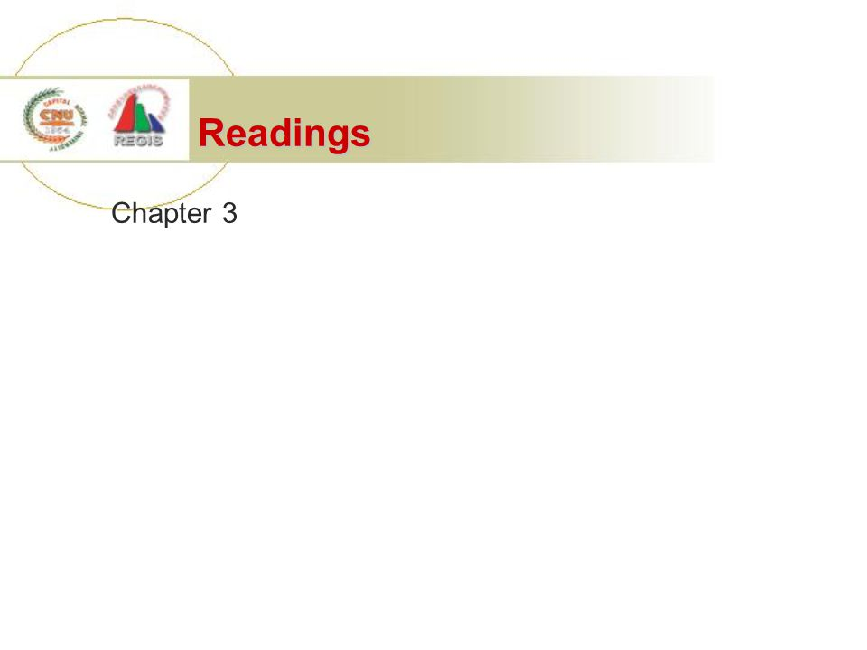 Readings Chapter 3