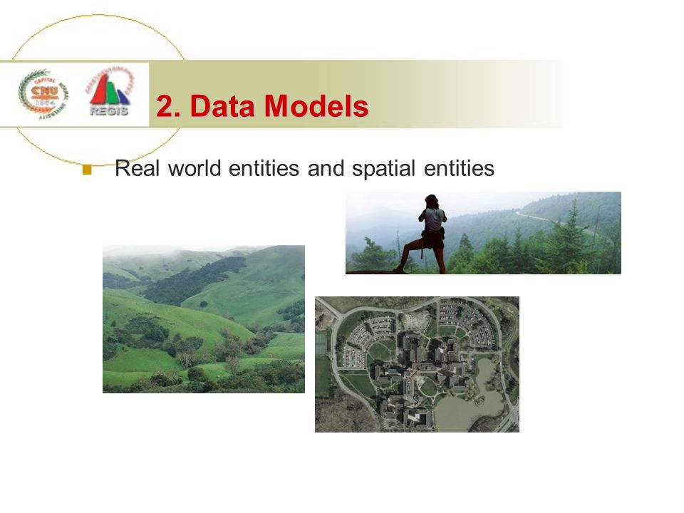 2. Data Models Real world entities and spatial entities