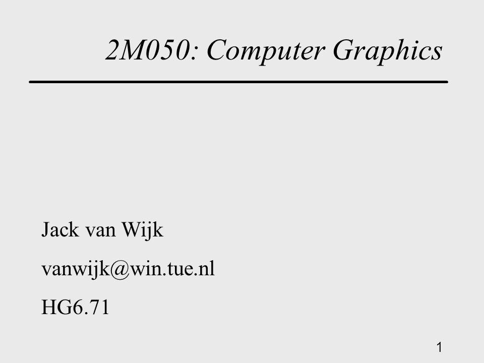 1 2M050: Computer Graphics Jack van Wijk vanwijk@win.tue.nl HG6.71