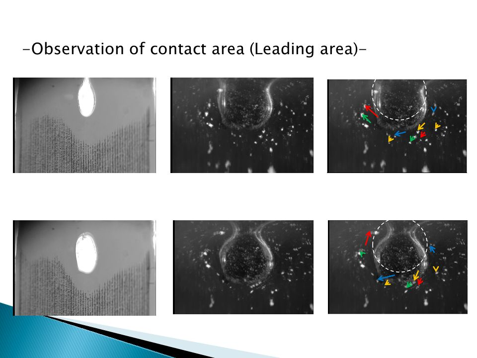 -Observation of contact area (Leading area)-