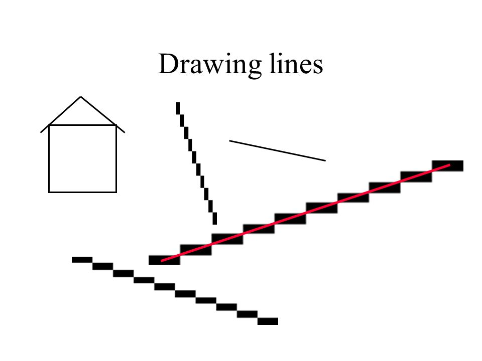 Bresenham Line Drawing Algorithm In C For All Slopes : Drawing lines. line algorithm 1: dda simple but uses floating point