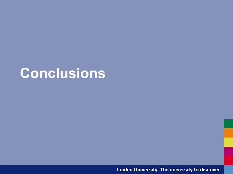Leiden University. The university to discover. Conclusions