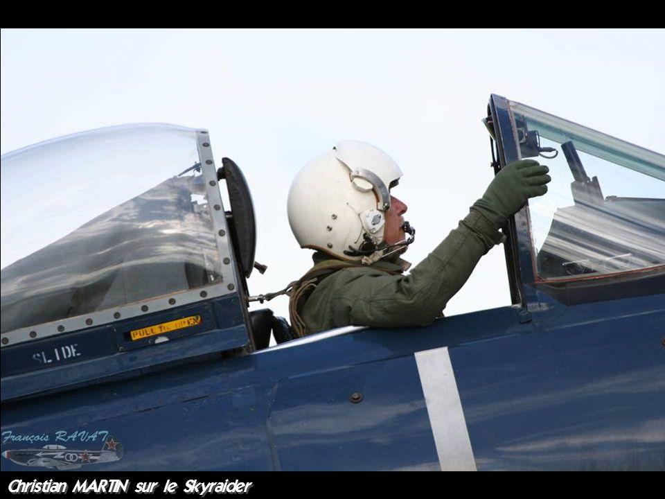 Christian MARTIN sur le Skyraider