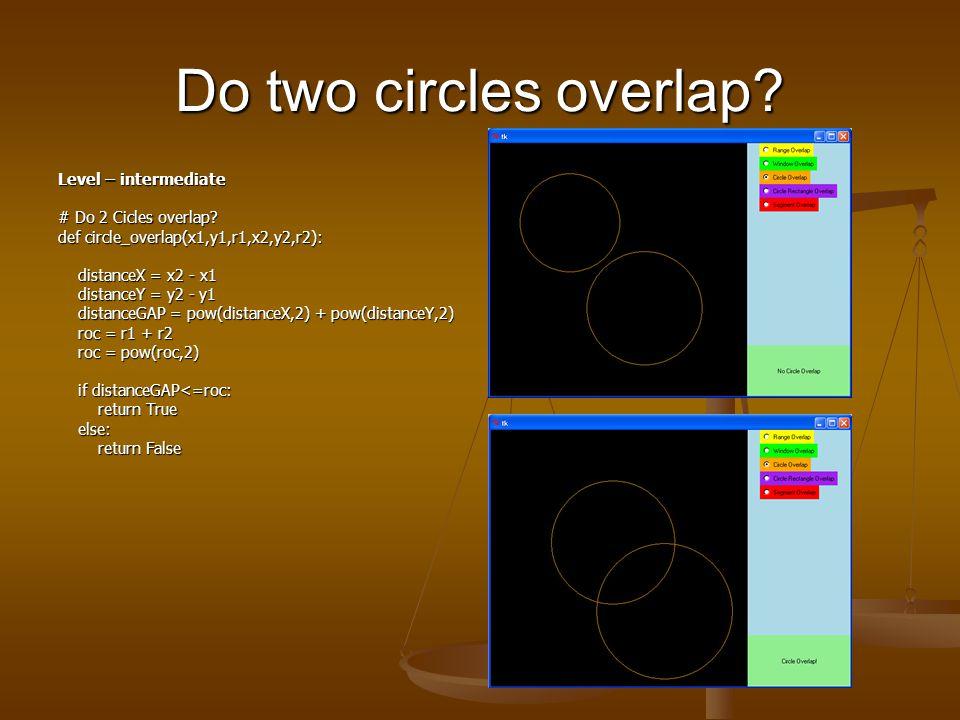 Do two rectangles overlap. Level – beginner # Do 2 Windows overlap.