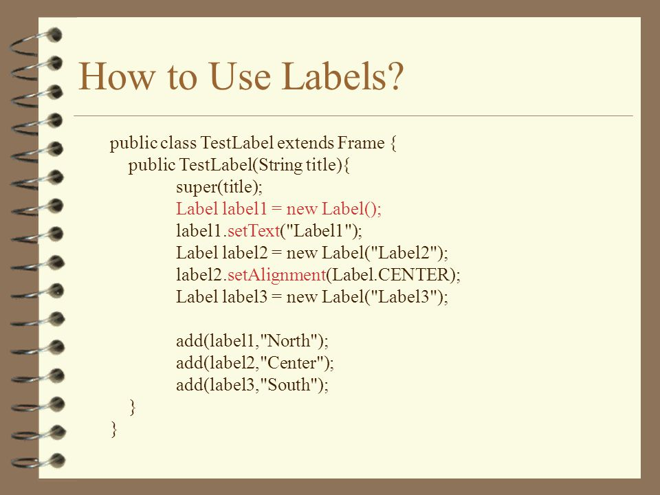 How to Use Labels.