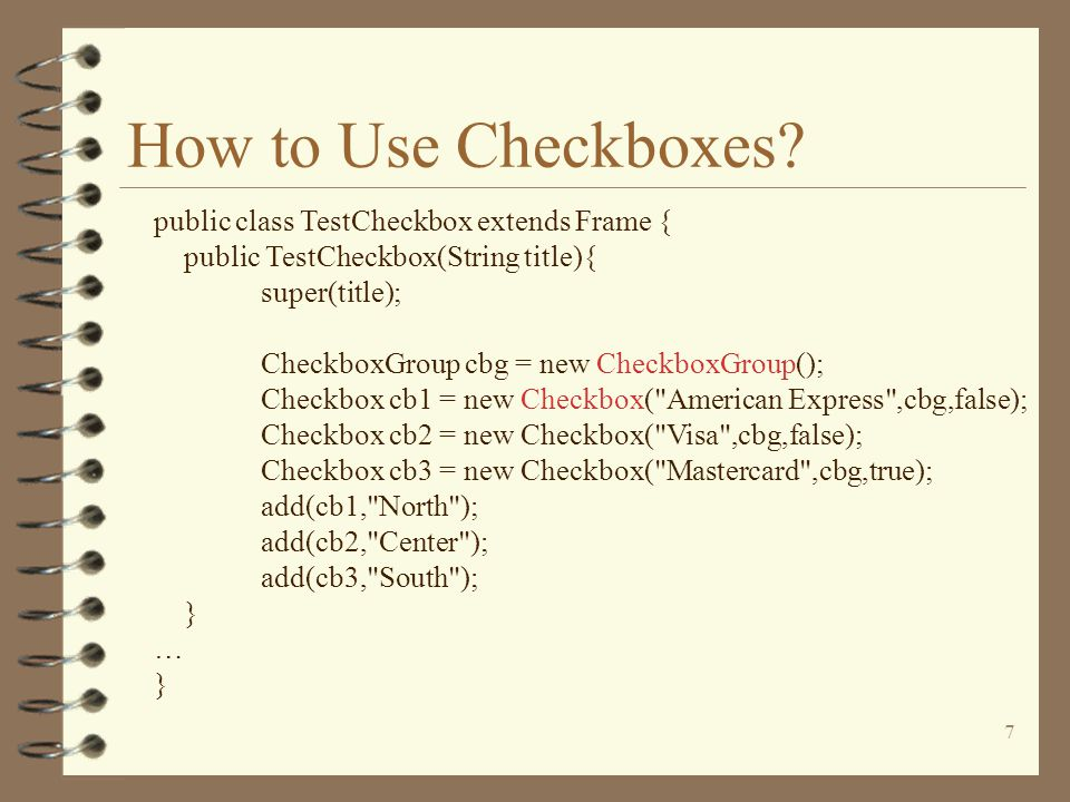 7 How to Use Checkboxes.