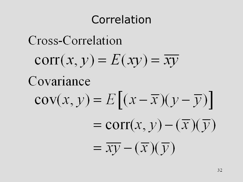 32 Correlation