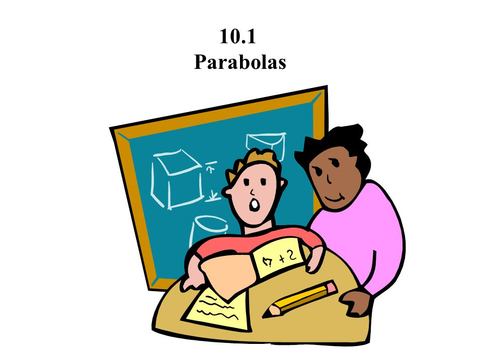 10.1 Parabolas A parabola is the set of all points (x,y) that are equidistant from a fixed line (directrix) and a fixed point (focus) not on the line.
