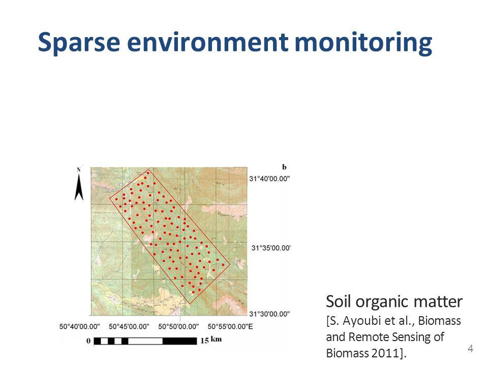 Sparse environment monitoring 4 Soil organic matter [S. Ayoubi et al., Biomass and Remote Sensing of Biomass 2011].