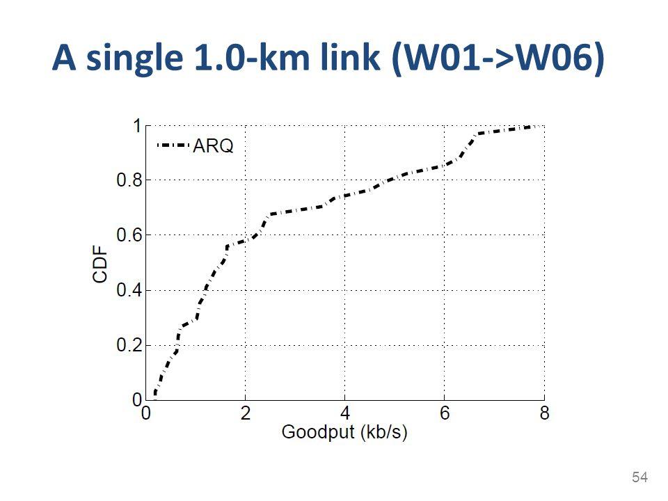 A single 1.0-km link (W01->W06) 54