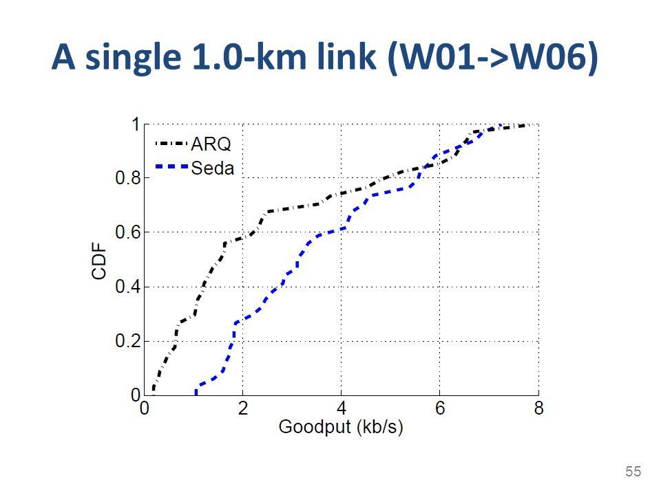 A single 1.0-km link (W01->W06) 55