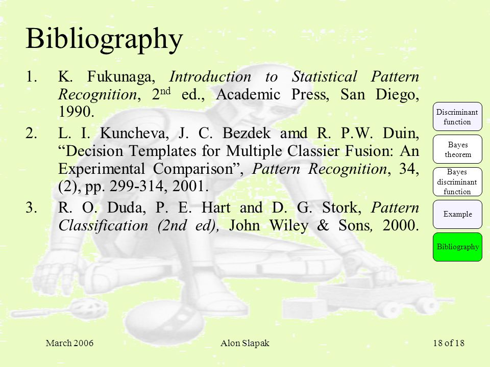 March 2006Alon Slapak 18 of 18 Bibliography 1.K.