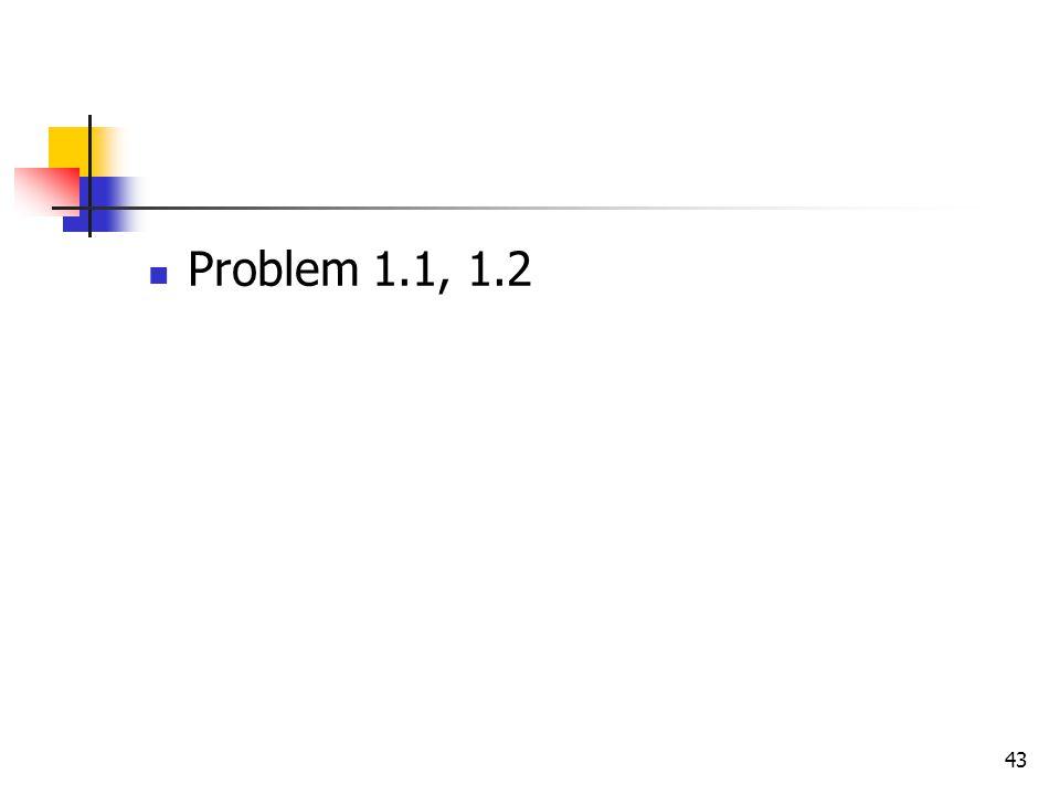 43 Problem 1.1, 1.2