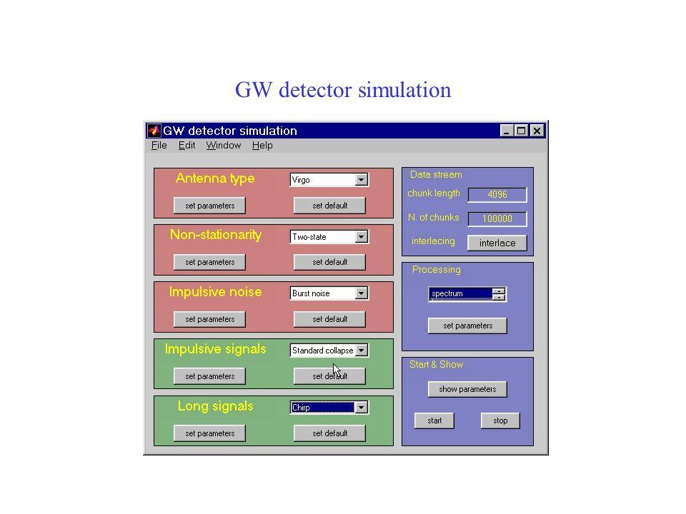 GW detector simulation