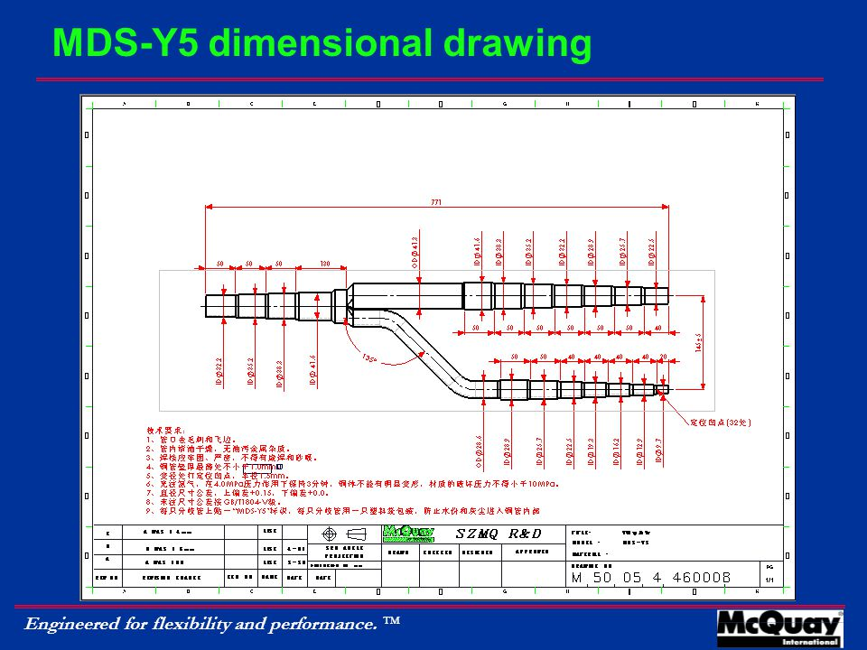 Engineered for flexibility and performance.  MDS-Y5 dimensional drawing