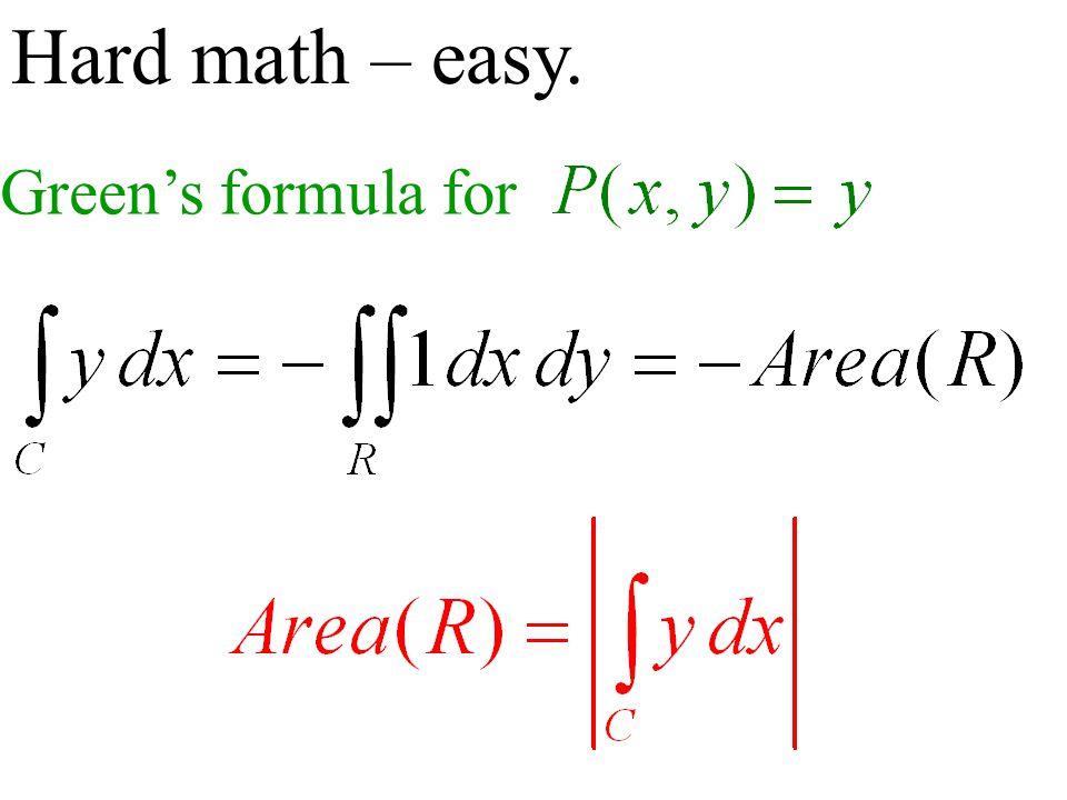 Hard math – easy. Green's formula for