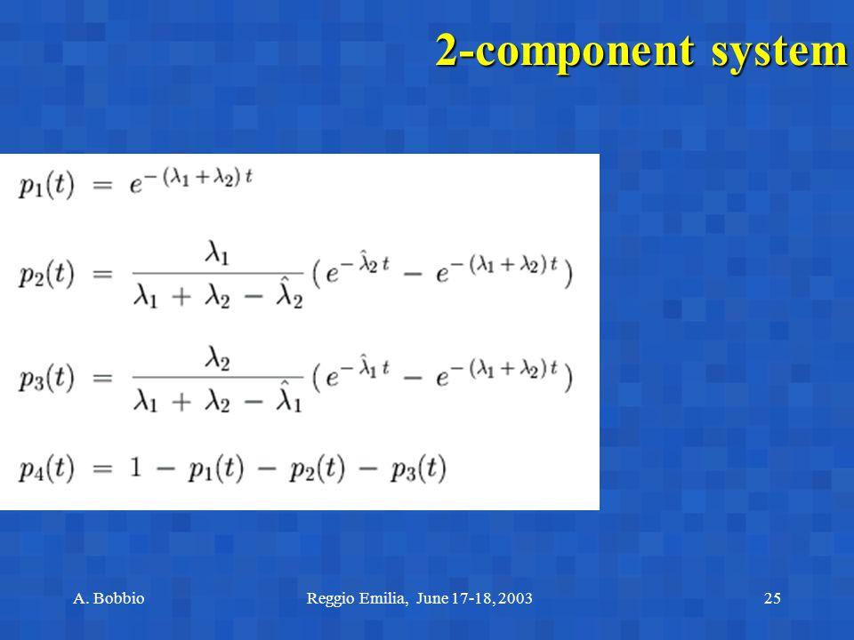 A. BobbioReggio Emilia, June 17-18, 200325 2-component system