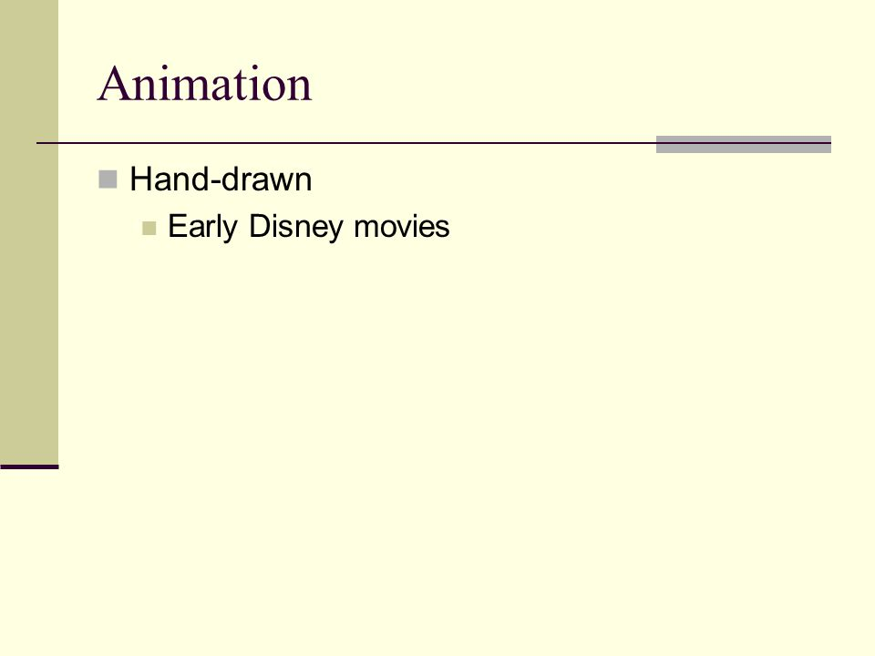 Animation Hand-drawn Early Disney movies