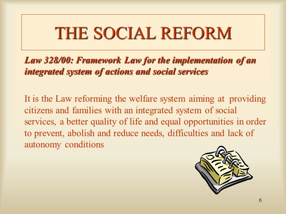 7 THE SUBJECTS DEFINED BY LAW 1/4 GOVERNMENT – it defines the principles and objectives of the social policy through the National Plan on actions and social services –it identifies a minimum standard level for services provided –it states the minimum structural and organizational standard level for setting up services –it defines the professional profiles of people working in the social field –it defines the repartition of the fund coming from Fondo Nazionale Politiche Sociali must be divided