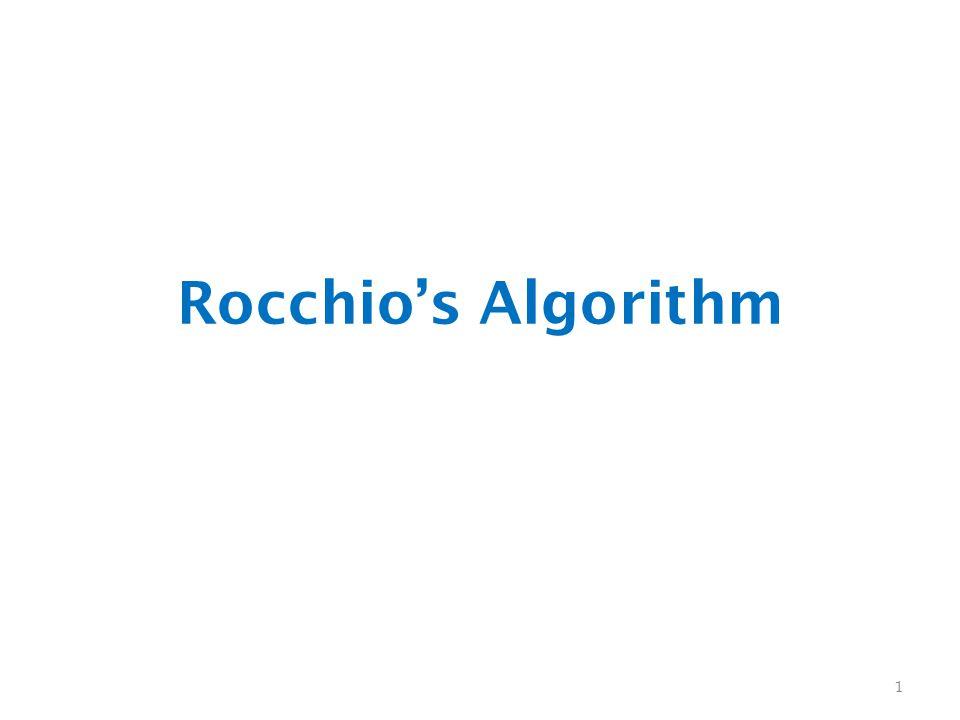 Rocchio's Algorithm 1