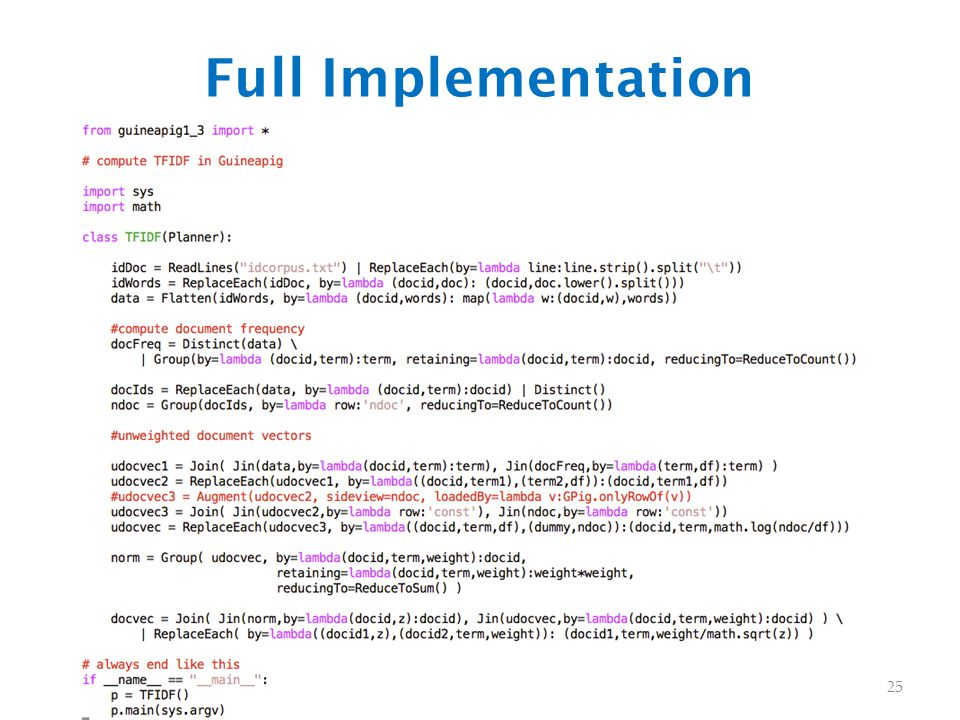 Full Implementation 25