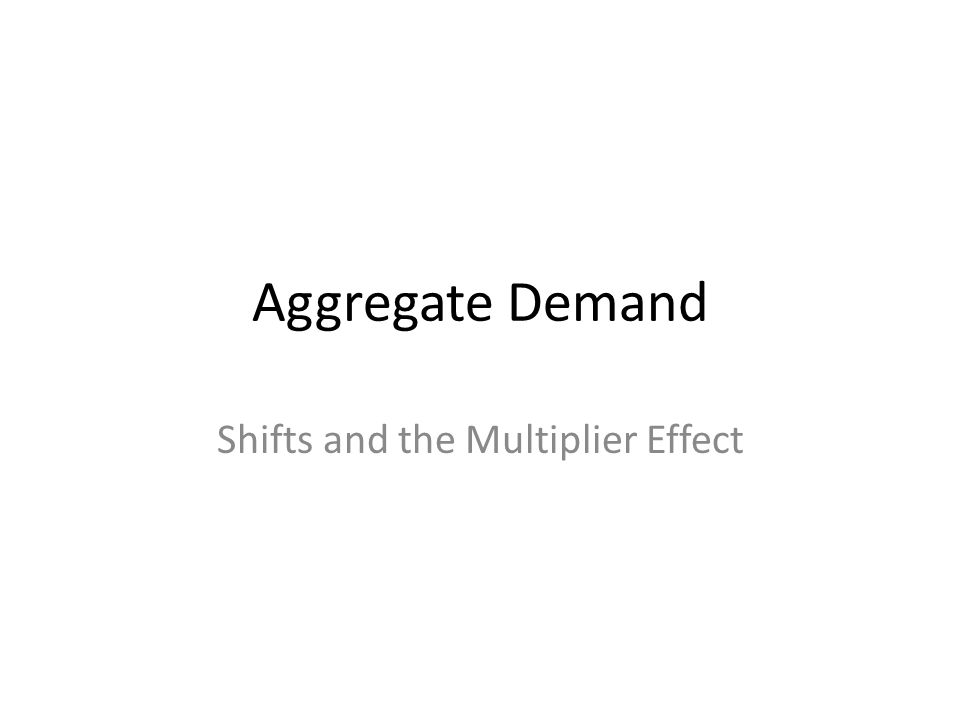 Aggregate Demand Shifts and the Multiplier Effect